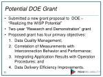 potential doe grant