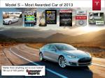 model s most awarded car of 2013
