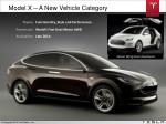 model x a new vehicle category