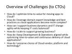 overview of challenges to ctos