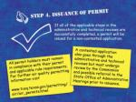 application review process step 4 issuance of permit