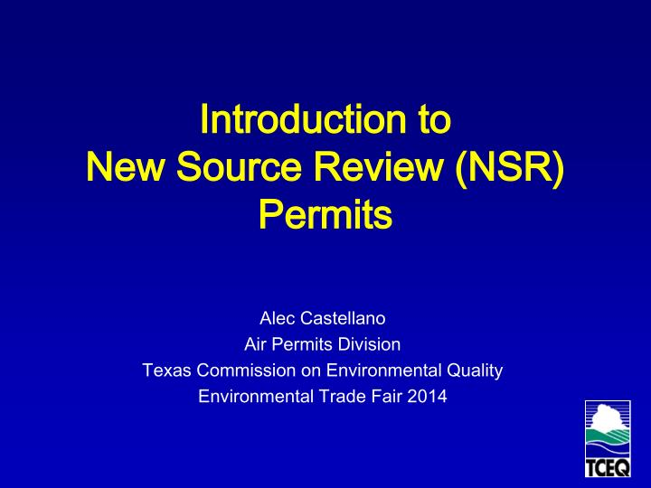 introduction to new source review nsr permits n.
