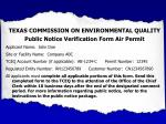 texas commission on environmental quality public notice verification form air permit