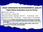 texas commission on environmental quality public notice verification form air permit1