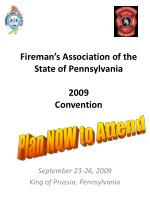 fireman s association of the state of pennsylvania 2009 convention