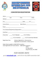for more info go to www kpvfc com and click on the 2009 convention tab1