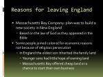 reasons for leaving england1