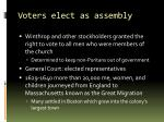 voters elect as assembly