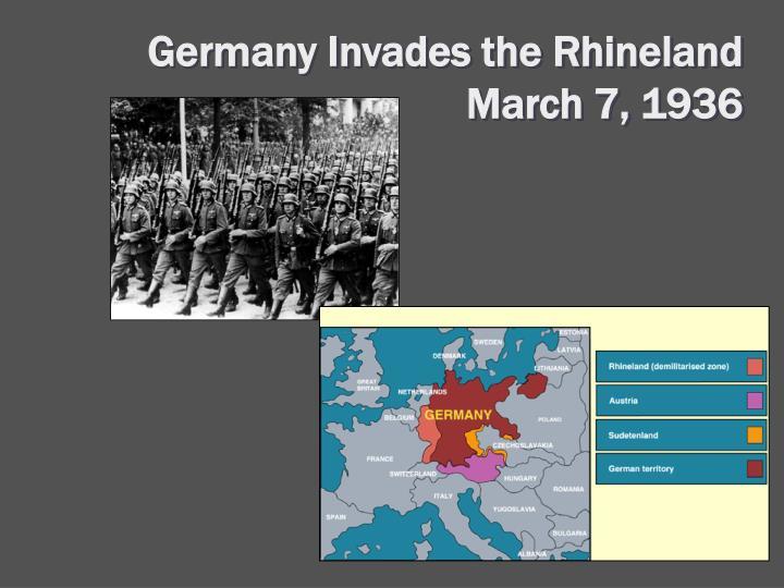 Germany Invades the Rhineland