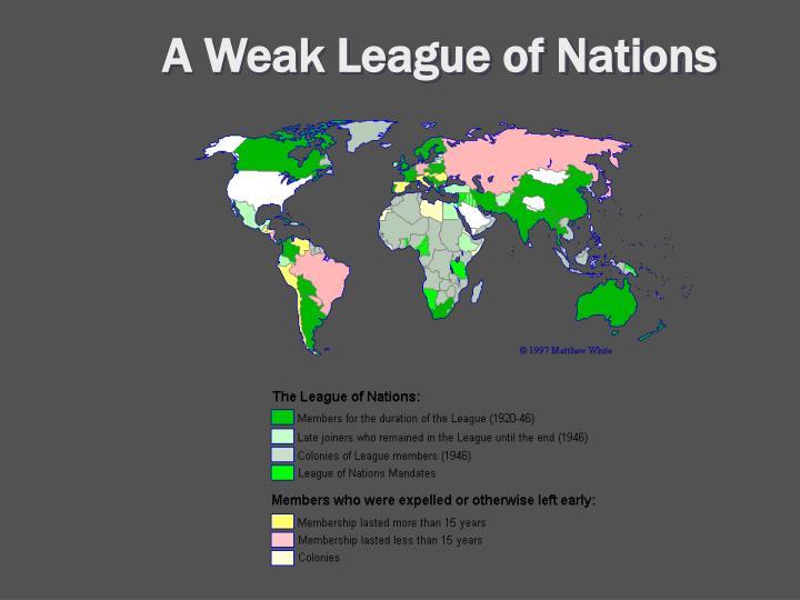 A Weak League of Nations