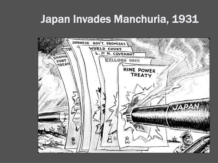 Japan Invades Manchuria, 1931