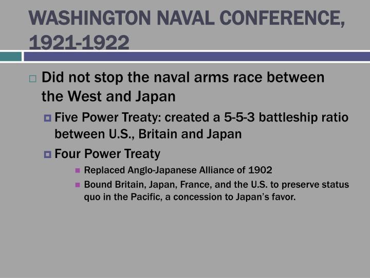 WASHINGTON NAVAL CONFERENCE, 1921-1922