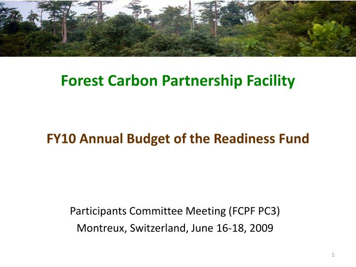 forest carbon partnership facility n.