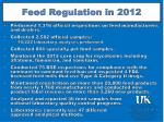 feed regulation in 2012