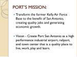port s mission