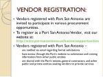 vendor registration