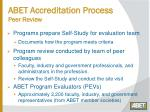 abet accreditation process peer review