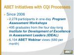 abet initiatives with cqi processes