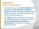 criterion 4 continuous improvement