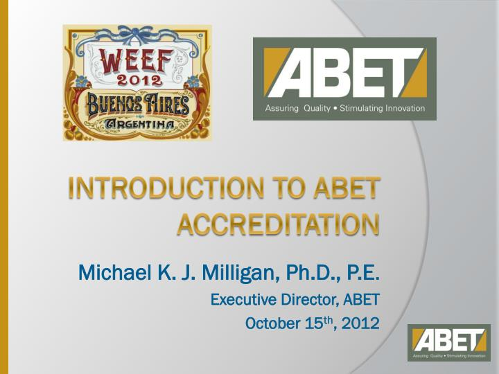 introduction to abet accreditation n.