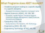 what programs does abet accredit