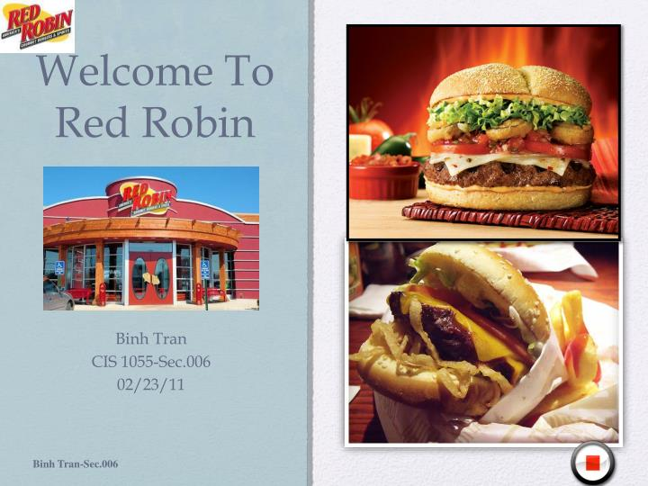 welcome to red robin n.