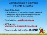 communication between parents school1