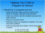 helping your child to prepare for school1