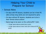 helping your child to prepare for school3