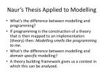 naur s thesis applied to modelling