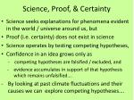science proof certainty