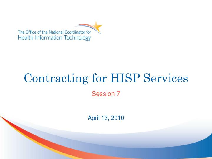 contracting for hisp services n.