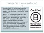 b corps a private certification