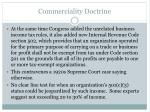 commerciality doctrine