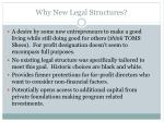 why new legal structures