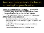 american isolationism in the face of increasing european tensions1
