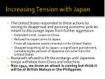 increasing tension with japan