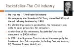 rockefeller the oil industry