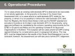 6 operational procedures23