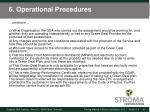 6 operational procedures5