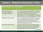 annex a reference documents tools