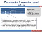 manufacturing processing related actions