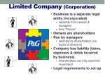 limited company corporation