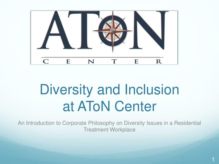 diversity and inclusion at aton center n.