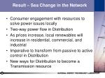 result sea change in the network