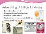 advertising a billion industry