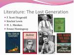literature the lost generation