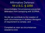 affirmative defense 18 u s c 2250