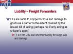 liability freight forwarders