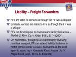 liability freight forwarders1